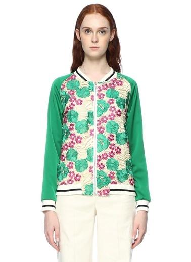 Çiçek Desenli Ceket-Goldie